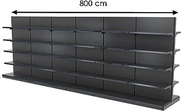 GGM Muebles Medio Estantería 8000 Central X h2270 mm (Góndola ...