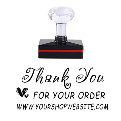 Amazon personalized thank you for your order website business personalized thank you for your order website business logo design rubber stamp office supplier greeting card m4hsunfo