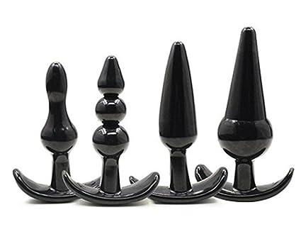 4 piezas plug anal - Juguetes sexuales para adultos de Silicona ...