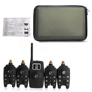 Sistema de Alarma LED de Pesca Digital inalámbrica 4 Alarma ...