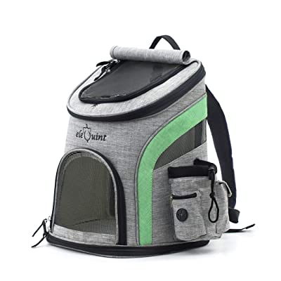 eleQuint Small Pet Hiking and Travel Backpack Lightweight Durable Airline Approved