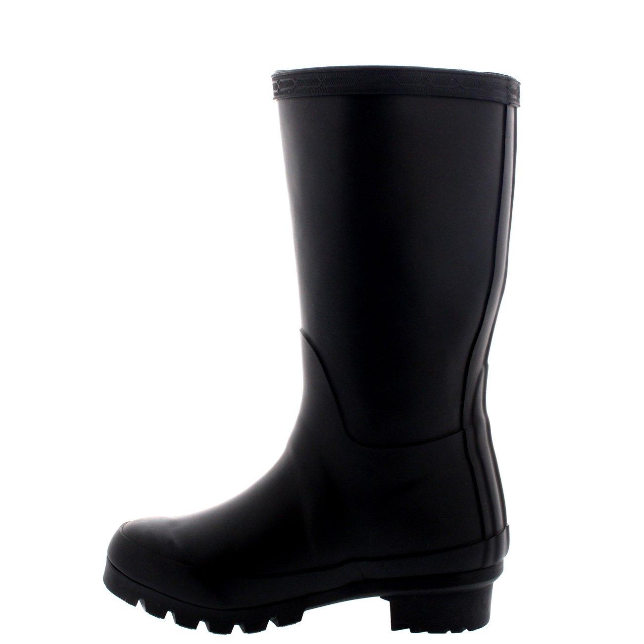 Unisex Kids Original Plain Wellie Rain Snow Winter Waterproof Mud Boots - 4 - BLA36 BL0189 by POLAR (Image #2)