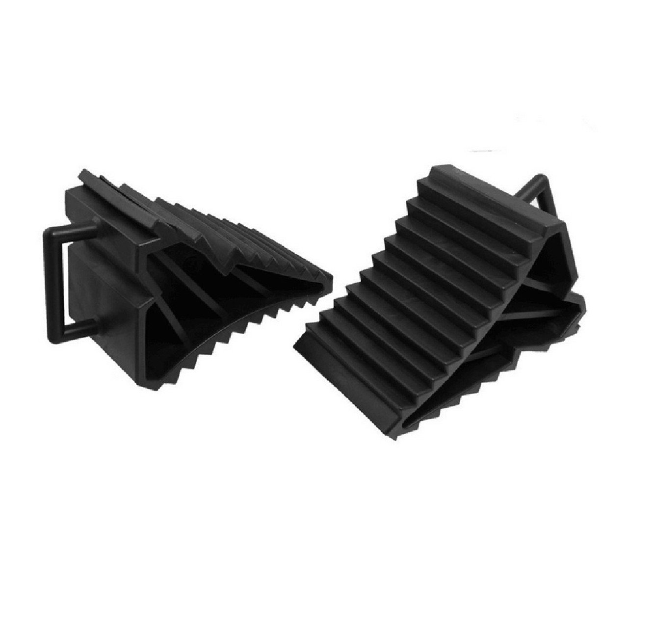 LANFIRE 2 Pcs Antislip Vehicle Car Truck Wheel Tire Chock Stop Block Black