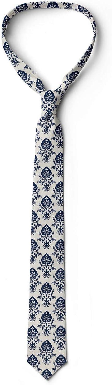 Ambesonne Mens Tie Eggshell Violet Blue 3.7 Monochromatic Nostalgic Art