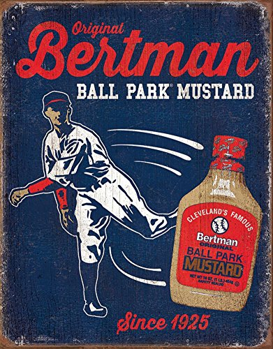 Bertman Stadium Mustard Tin Sign 16 x 13in