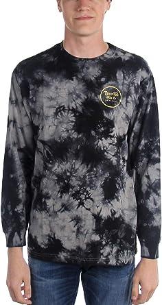 BRIXTON Wheeler II L/S Stt Camisa de Manga Larga, Negro y Gris Oscuro, Large para Hombre: Amazon.es: Ropa y accesorios