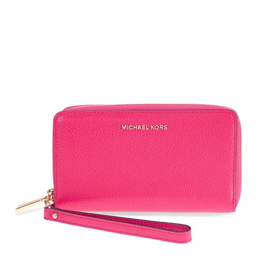 2e4e561e1d3b Galleon - MICHAEL Michael Kors KORS STUDIO Large Flat Phone Case Wristlet  Ultra Pink