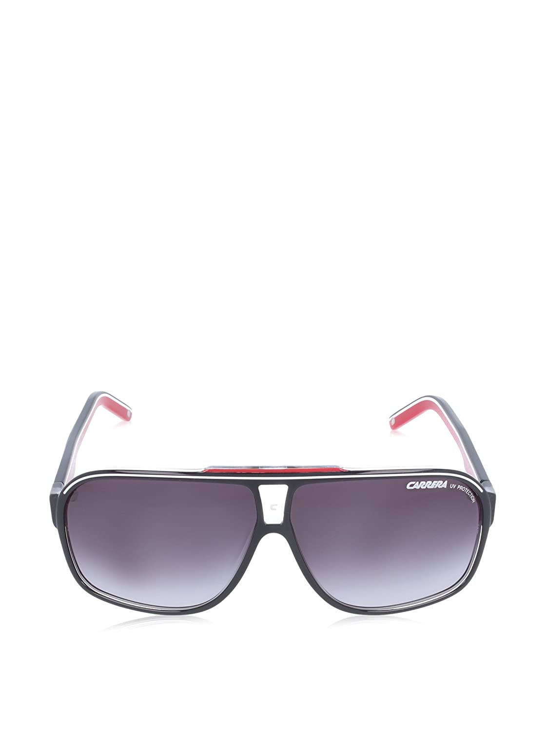 Carrera mixte adulte GRAND PRIX 2 9O T4O Montures de lunettes, Noir (Bkcr Bkwhred/Dark Grey Sf), 64