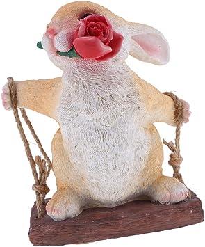 Amazon.es: F Fityle Columpios De Resina Animales Decoración De Jardín Adornos Decoración para El Hogar Figuras Pastorales - Conejo # 2: Juguetes y juegos
