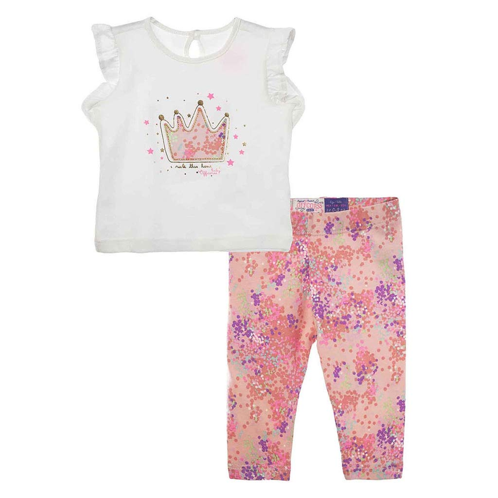 Amazon.com: OFFCORSS Baby Girls T Shirt and Leggings Outfit Set Kids ...