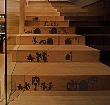 Marche d\'escalier Petit Souris Masion Auto-adhésif Sticker ...
