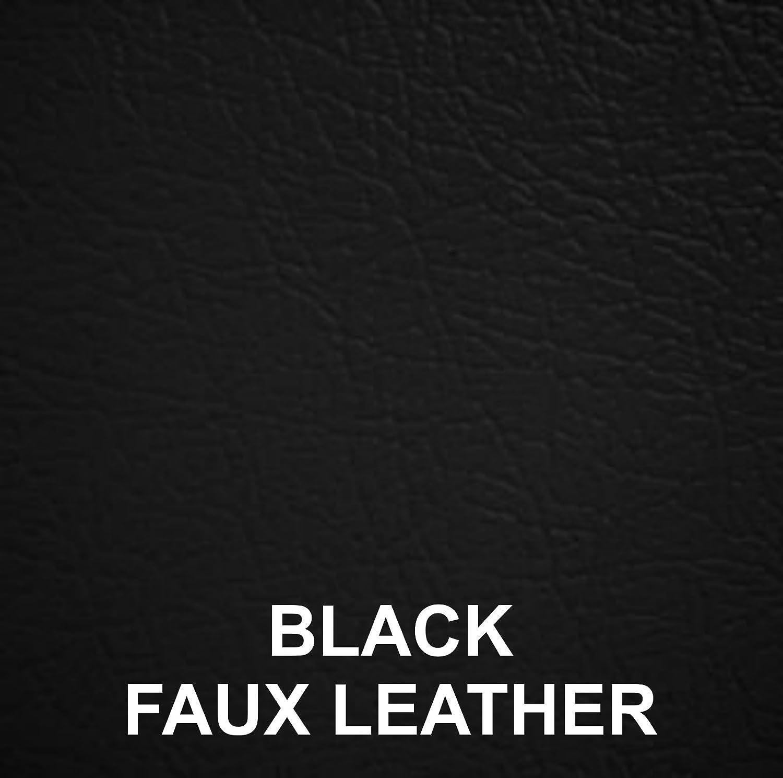 4 ft Small Double Divan Bed Set - Headboard, Memory Foam Mattress, Divan Bed Base (Faux Leather Black, 2 SIDE Drawers) Designer Beds