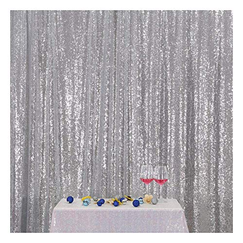 Poise3EHome 4FT x 6FT Sequin Photography Backdrop Curtain for Party Decoration, -