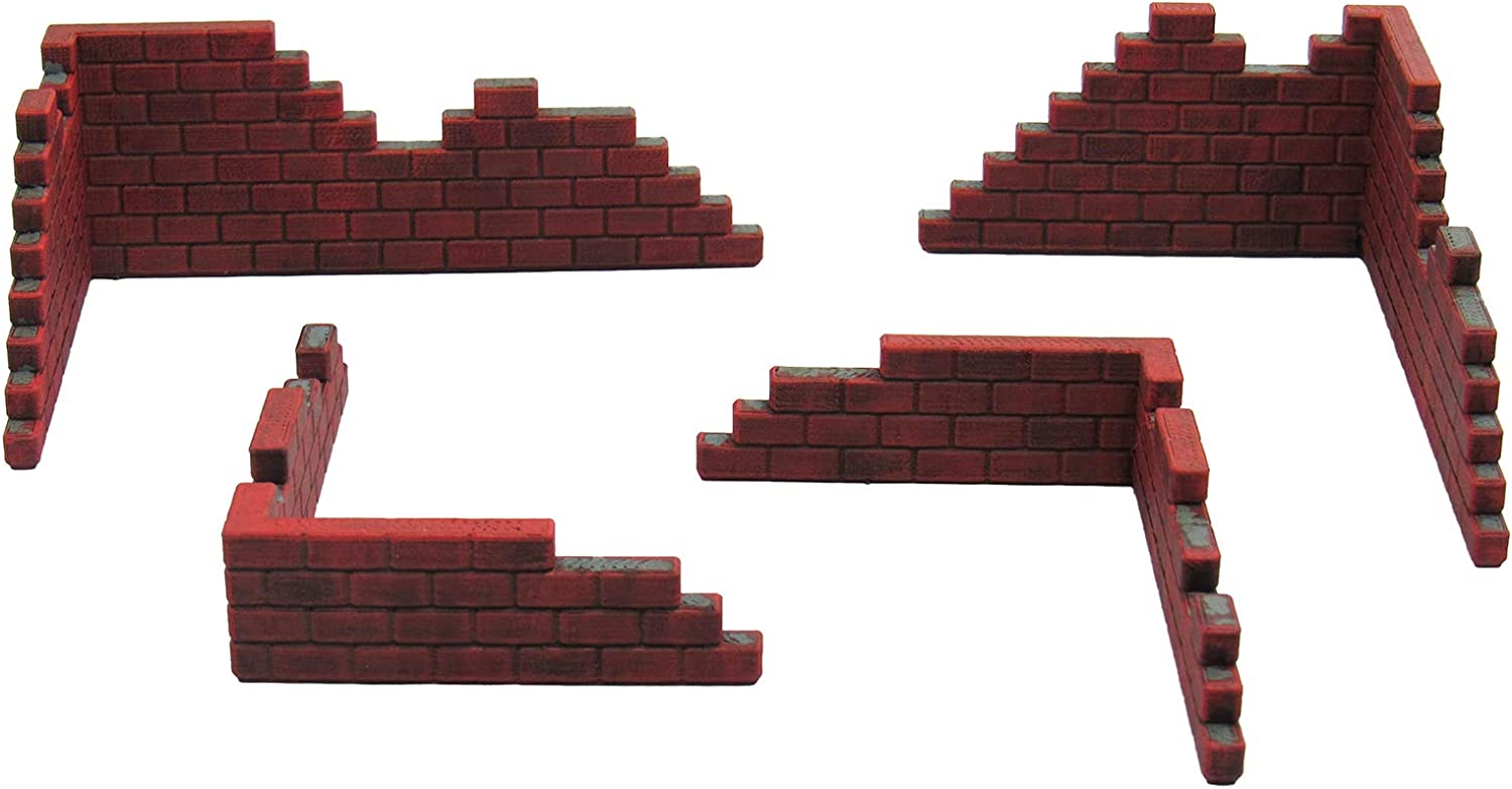 Brick Walls, Terrain Scenery for Tabletop 28mm Miniatures Wargame ...