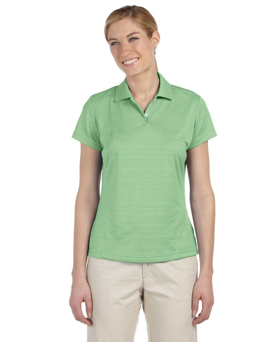 adidas Golf Womens Climalite Textured Short-Sleeve Polo (A162) -Gecko -S