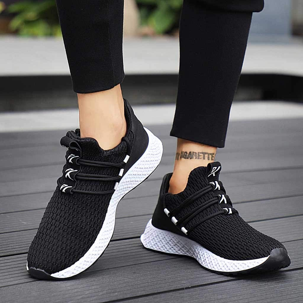 YKARITIANNA Fashion Men Flying Weaving Sneakers Casual Breathable Shoe Student Running Shoes