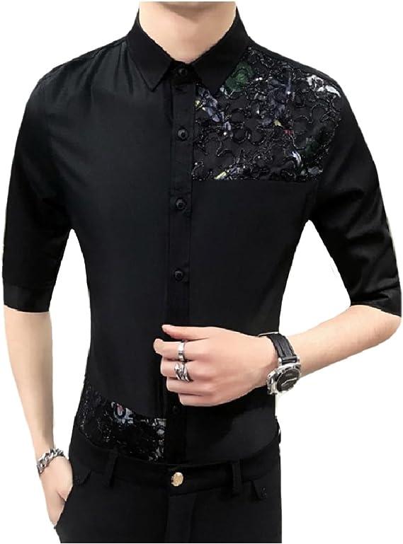 L Read item details 1970s button down shirt Geometric design Men/'s luxurious