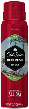 Old Spice Fresh Collection Body Spray, Fiji, 3.75 oz Pack of 6