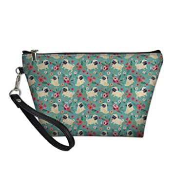 Bigcardesigns Pug Print Travel Brush Toilet Bags Women Organizer Small Make Up Purse Cosmetic Pouch Clutch Tools Bags