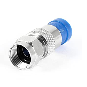 F macho Dual Blindaje Conector de compresión para RG6 Cable Coaxial