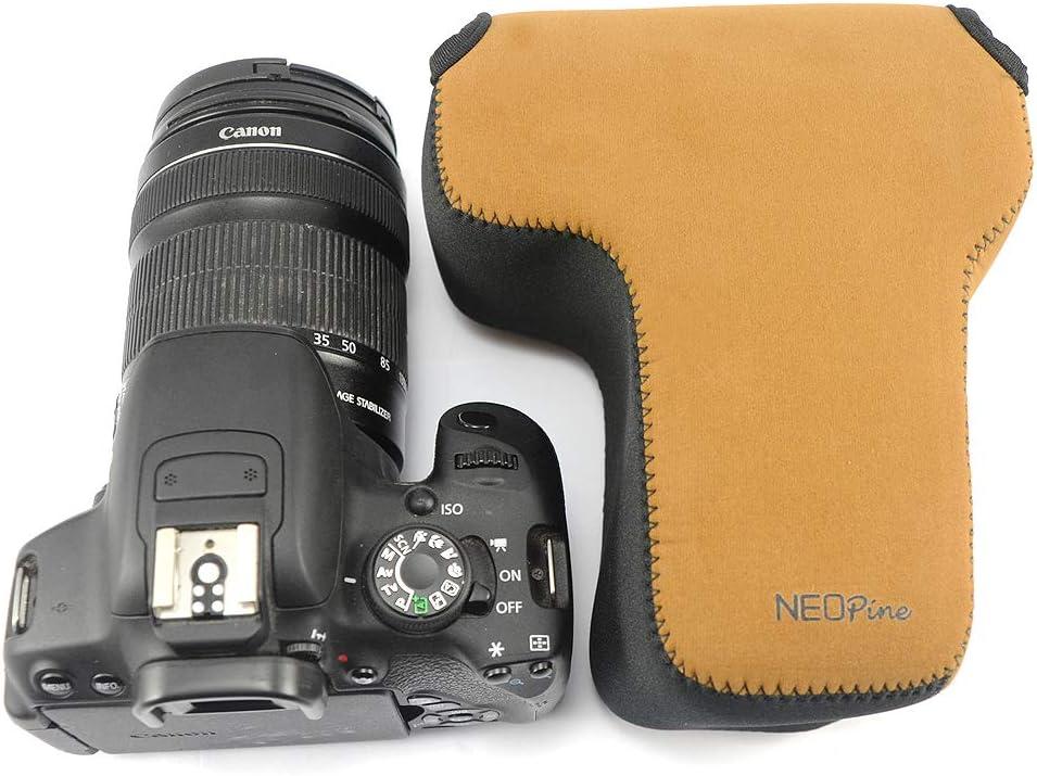 Custodia per Fotocamera SLR con Protezione in Neoprene Compatibile con Canon EOS 90D 80D 70D EF-S 18-135mm 10-18mm 55-200mm lens Nero