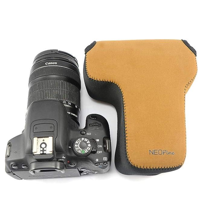 Marron Funda Cámara Reflex Neopreno Protectora para Canon EOS 250D ...