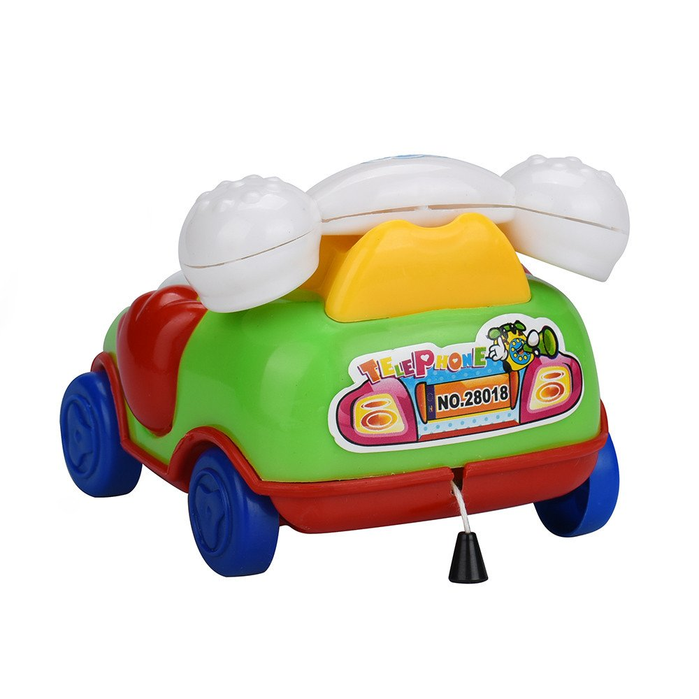 Wenini Telephone Car Top Chain Car Educational Toys - Cartoon Smile Phone Car Developmental Kids Toy Gift for Ages 3 Years Over (Random) by Wenini (Image #6)