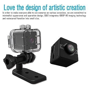 Zmsdt Mini cámara Oculta HD 1080P Spy Secret Cámara de Seguridad Nanny CAM Grabadora de Video portátil con visión Nocturna, detección de Movimiento y ...