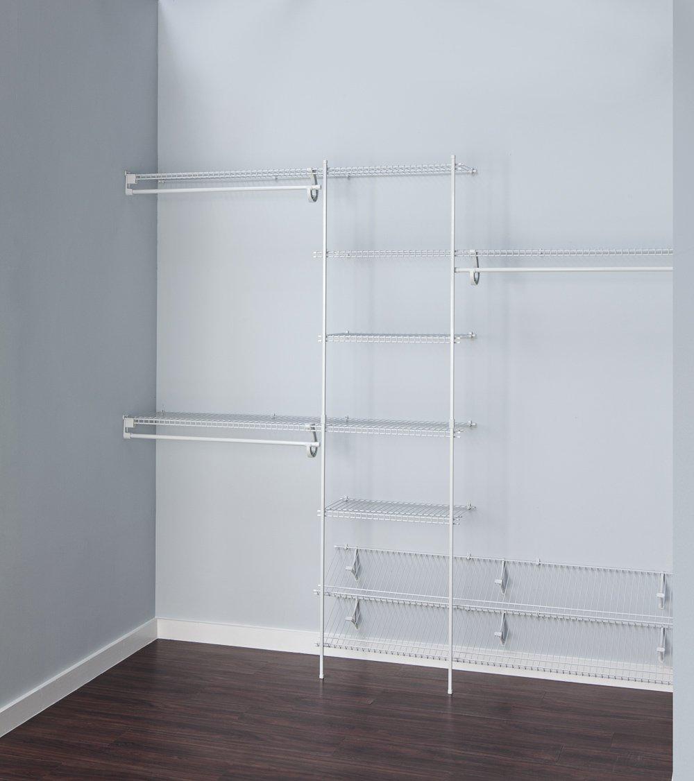 Amazon.com: ClosetMaid 5037 5ft. to 8ft. Fixed Mount Closet ...