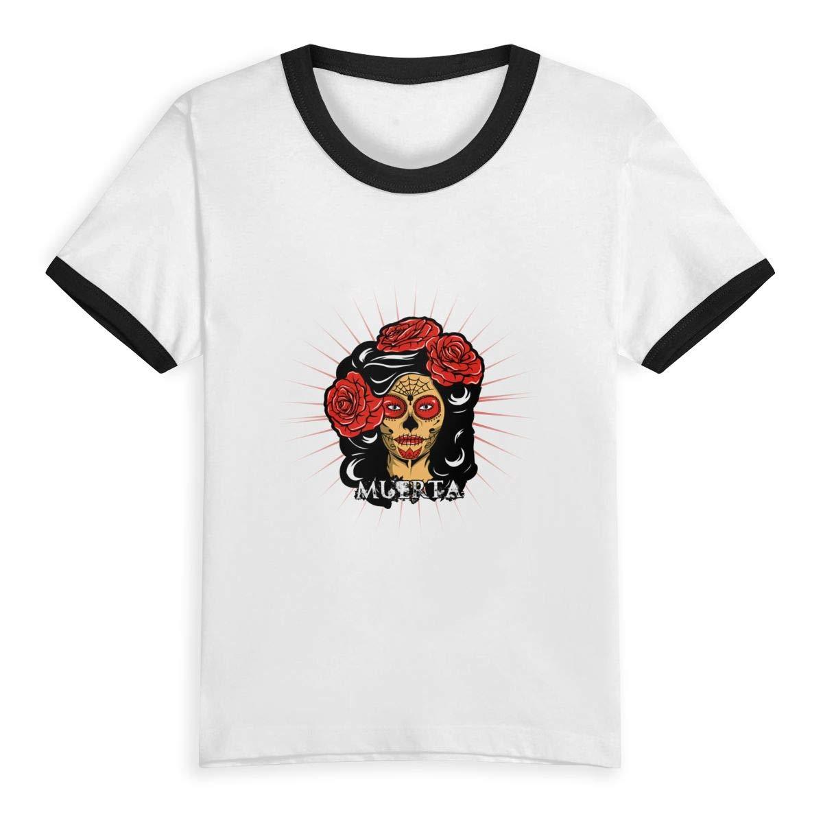 Muerta Summer Basic Little Girls Short Sleeve Tee Short T Shirts