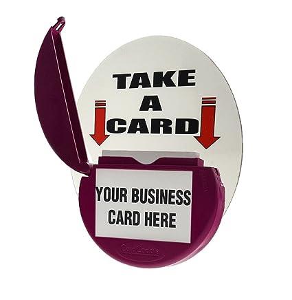 Amazon marketing holder card caddie magnetic vehicle business marketing holder card caddie magnetic vehicle business card holder pink reheart Gallery