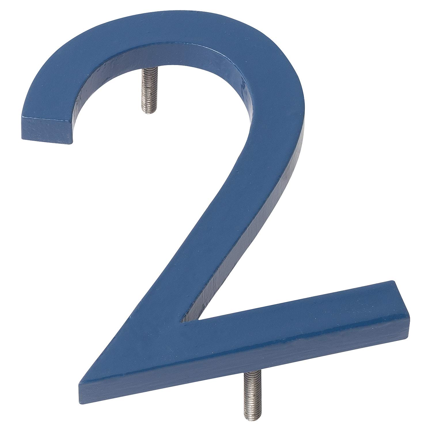 Montague Metal Products MHN-08-2-F-SB1 Floating House Number, 8' x 5.75' x 0.375' Sea Blue