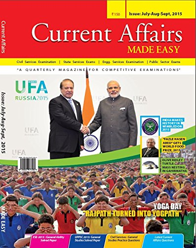 Current Affairs Quarterly issue (July- September 2015)