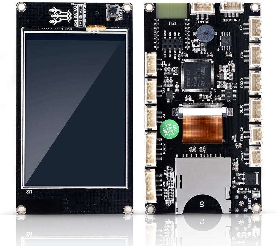 TFT35 V2.0 3,5 pouces /Écran tactile Contr/ôleur intelligent Prise en du panneau Serial WiFi Compatible avec SKR V1.3 MKS Gen V1.4 3D Printer Parts Walory Imprimante 3D