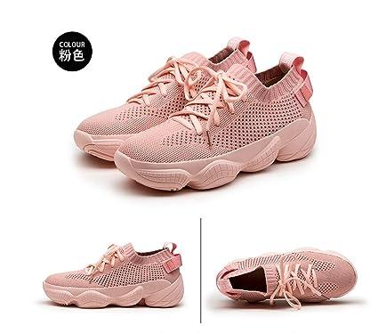 6a73dcc3056 CXIGUA Zapatilla De Deporte Clunky Zapatos De Mujer Rosa Solo Zapatos  Deportivos Zapatillas Estudiante-40