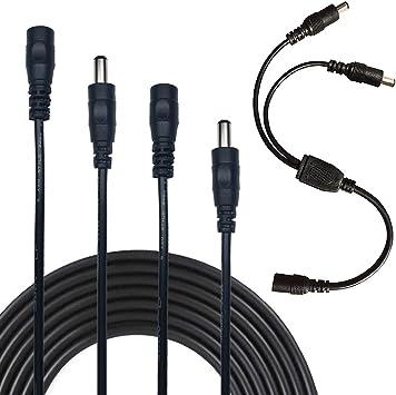 Liwinting 2pcs 2m Dc Verlängerungskabel 2 1 Mm X 5 5 Mm Elektronik