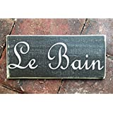 Excellent Lowes Bathtub Drain Stopper Thick Dual Bathroom Sink Solid Good Paint For Bathroom Ceiling Lamps For Bathroom Vanities Youthful Bathrooms Designs Pinterest DarkBathroom Sizes India Amazon.com: Le Bain French Bathroom Wooden Wall Art Sign Bath Door ..