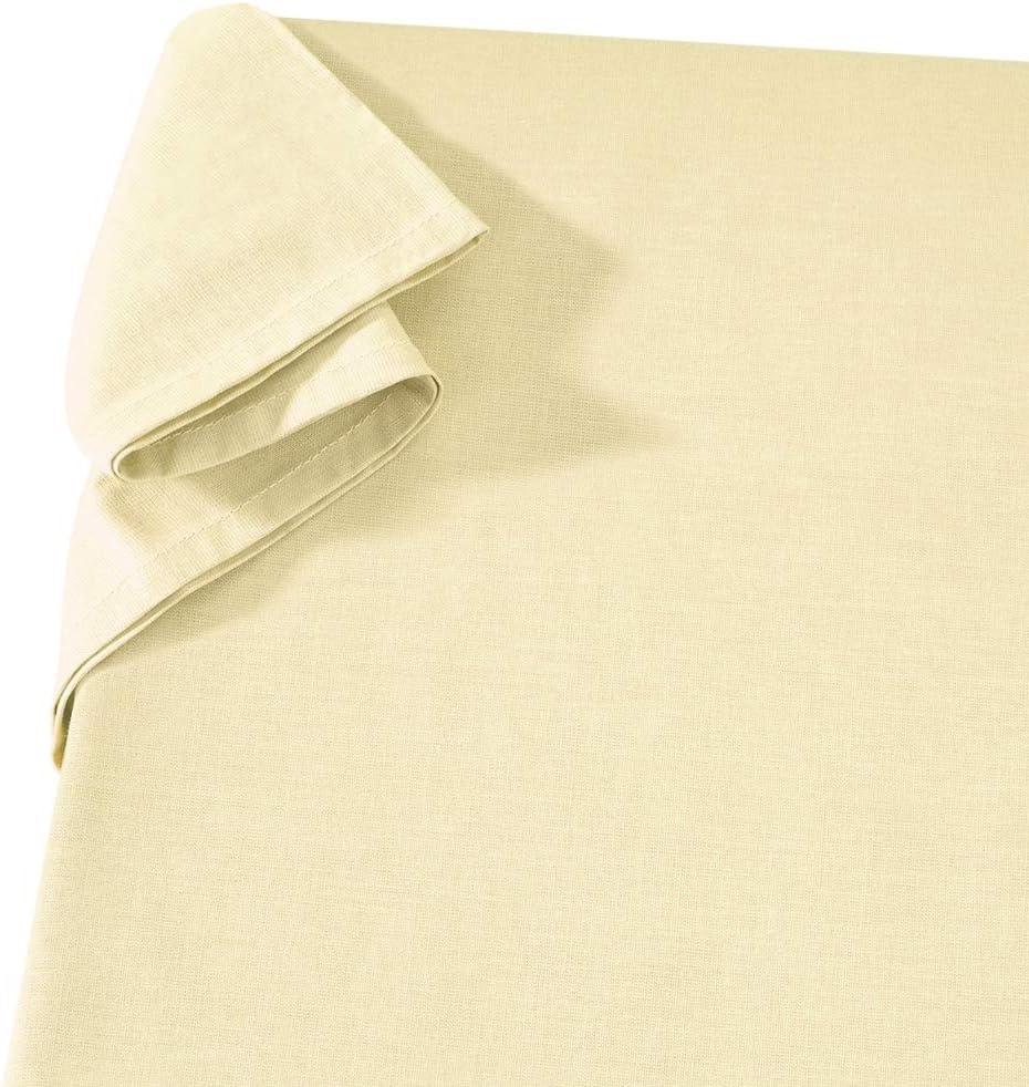 Carpe Sonno Komfortables Linon-Laken ohne Gummizug 150 x 250 cm Sand 100/% Baumwolle Vielseitiges Haustuch Tischtuch Sofa und Sessel-/Überwurf Linon-Leintuch Linon-/Überwurf Linon-Haushaltstuch