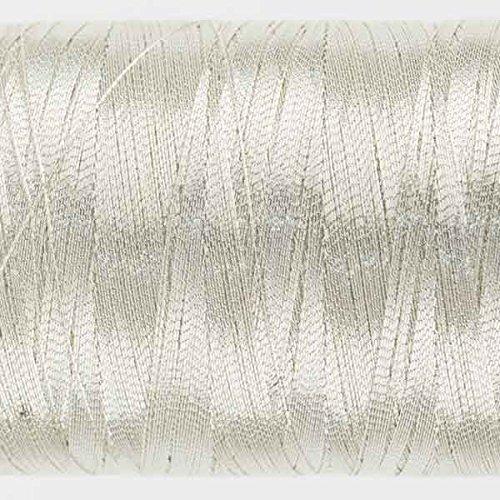 WonderFil Specialty Threads Spotlite, 1000m, Light Silver. 40wt rayon core metallic thread WonderFul Network