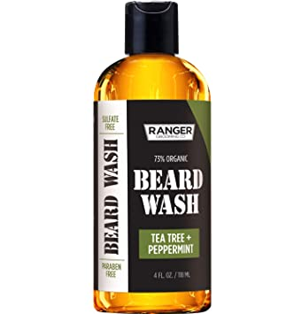 Beard Wash Shampoo by Ranger Grooming Co by Leven Rose, Sulfate Free  Natural Beard Cleanser &