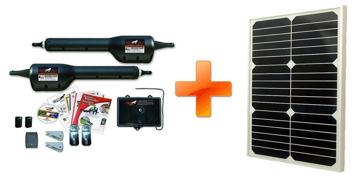 Mighty Mule MM262 Solar Package - Dual Gate Opener w/ 20 Watt Solar Panel