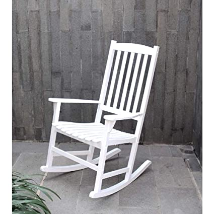Fantastic Amazon Com Ghy Country Rocking Chair White Plantation Inzonedesignstudio Interior Chair Design Inzonedesignstudiocom
