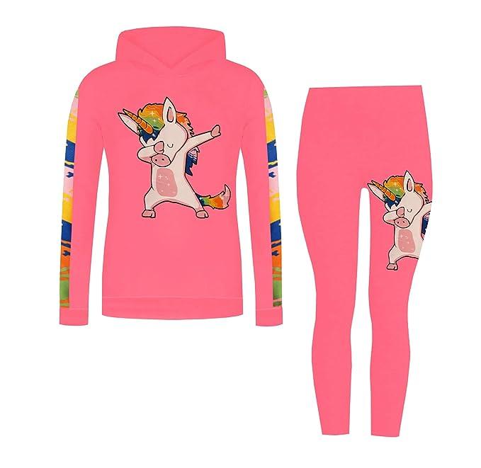 ZipZappa Niña Ragazza Lote de 2 piezas con estampado de Unicornio Leggings Sudaderas con capucha (