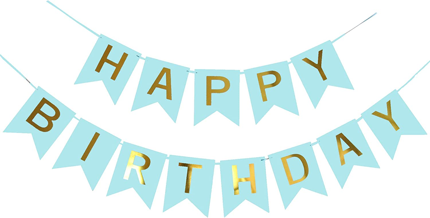 Style 1 thematys Happy Birthday Birthday Party Garland in 8 different designs and colors