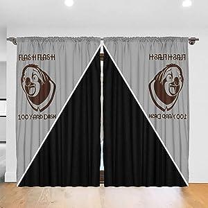 SIENNAWEBB Flash Flash 100 Yard Dash 52 X 72 Inch Bedroom Curtain 2 Panel Set