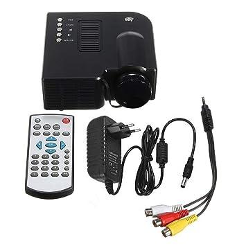 Mini LED Proyector, portátil 400 lúmenes 1024p HD Multimedia LCD ...