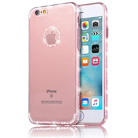 30 opinioni per Sunroyal iphone 8 Cover, iphone 7 case (4.7 pollici) Bling Strass Transparent