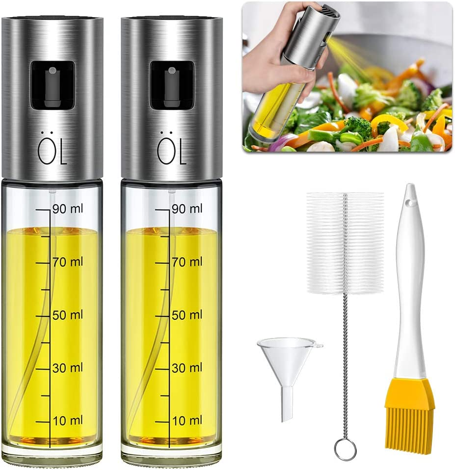 Ninonly Olive Oil Sprayer Bottle for Cooking 2 pack Oil Dispenser