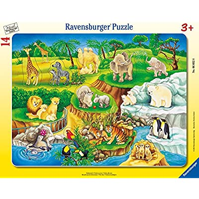 Ravensburger The Zoo My First Frame Tray 14 Piece Jigsaw Puzzle for Kids – Every Piece is Unique, Pieces Fit Together Perfectly: Toys & Games
