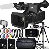 Panasonic HC-X1 4K Ultra HD Professional Camcorder with Atomos Shogun Flame 7'' 4K HDMI/12-SDI Recording Monitor 64GB Bundle 21PC Accessory Kit. Includes 2 64GB Memory Cards + MORE